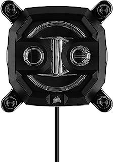 Corsair 海盗船 Hydro X 系列 XC7 RGB CPU 水块(1200/AM4) - 镀镍铜冷板 - 黑色 - 超过60个微散热脚蹼 - 16个可单独寻址的 RGB LED