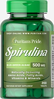 Puritan's Pride 螺旋藻 500 毫克 - 200 片