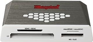 Kingston Digital USB 3.0 超速多卡读卡器适用于 SD/SDHC/SDXC/microSD/MS/Compact Flash CF 卡 (FCR-HS4)