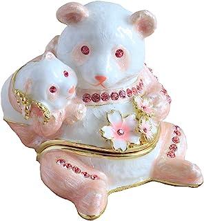 Jewelrybox 熊猫&宝宝(粉色) EX584-2