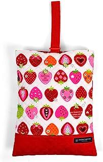 鞋盒(绗缝)室内鞋袋 甜美草莓收藏(象牙色) N3238200