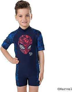 Speedo 男孩 Marvel 蜘蛛侠连体泳衣