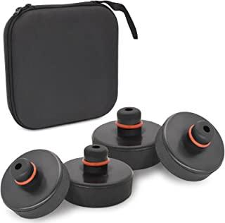 LEIMO 提升插孔垫适用于 Tesla Model 3、Y、S 、X、4 件装插孔垫曲棍球插孔升降垫适配器工具带存储袋,特斯拉车辆配件