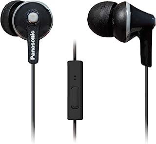 Panasonic 松下电器 ErgoFit 入耳式耳机,带有麦克风和呼叫控制器,兼容iPhone,Android和Blackberry-RP-TCM125-K-入耳式(黑色),耳塞S / M / L