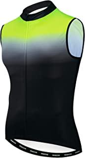JPOJPO 男式骑行运动衫背心自行车无袖衬衫反光 3 口袋上衣