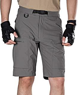FREE SOLDIER 男式工装短裤透气轻质快干徒步战术短裤尼龙氨纶