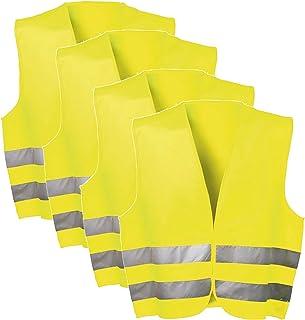 SECOTEC EN ISO 20471 警告背心 2级 黄色 尺寸 XL * 涤纶;内容:4 个