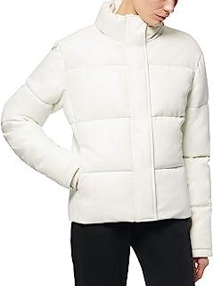 Marc New York 女式人造皮革棉衣   L 码   象牙色