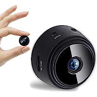 Tmtop 迷你WiFi摄像机1080P夜视运动检测无线远程摄像机,带App视频记录仪,用于汽车 家庭户外室内