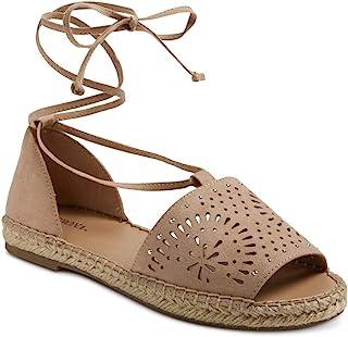 Merona Braelyn Ghillie 女士铆钉系带帆布芭蕾平底鞋