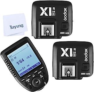 Godox 神牛 Xpro-S 2.4G X 系统 TTL 无线触发发射器,带 2X X1R-S 控制器接收器,适用于 Sony 相机,TTL 功能,兼容 F42AM/HVL-45RM/HVL-F60M/HVL-F43M/HVL-F32M/F5...