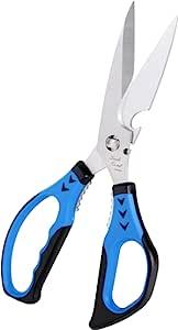 Uncle Roast 厨房剪刀 - 多种功能,可拆卸刀片 皇家蓝 UR-K221B