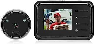 Ring Peephole 摄像头,32GB 夜视手动窥视相机,适用于公寓门,带 2.4 英寸显示器 90° 广角镜头和 0.3MP 长效电池,适用于家庭*照片拍摄
