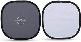 Kathlen 平衡卡 - 30 厘米折叠 18% 灰色白色平衡参考卡带包摄影配件
