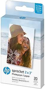 HP ZINK(R) 贴纸照片纸适用于 HP 链轮打印机(56.8 x 7.62 厘米)