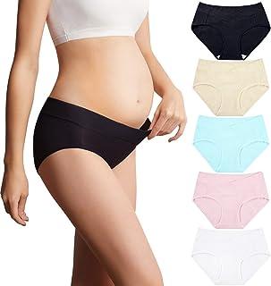 Mama 棉质孕妇内衣女式低腰孕妇内裤(L-3XL,多件装)