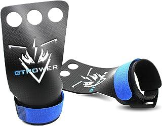 N\C 3 孔皮革手柄适用于家庭锻炼,如拉起、举重、带腕带的 WODs,舒适和支撑,男女皆宜的手部保护。