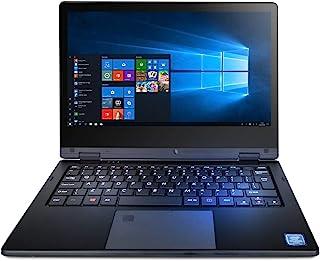 TECHBITE Arc 11.6 HD 笔记本电脑,带触摸屏,笔记本电脑 Windows 10 Pro 电脑,11.6 英寸 IPS,英特尔2.6 GHz,4GB RAM,64GB eMCP,WLAN,蓝牙,黑色
