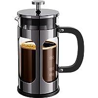 BAYKA 法式压榨咖啡茶机,304 不锈钢咖啡压榨机,4 级过滤系统,耐热加厚硼硅酸盐玻璃,34 盎司(约 963.9…