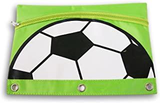 3 环活页夹 2 口袋铅笔盒运动收纳袋(足球)