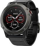 Garmin Fenix 5X 蓝宝石手表-灰黑色,带黑色表带