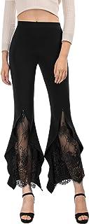 SCARLET DARKNESS 女式哥特式喇叭裤高腰阔腿阔腿休闲裤