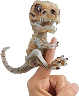 WowWee 凶猛霸王龙骨架手指玩具 末日(灰)色 可收藏互动型恐龙玩具