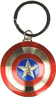 Marvel 美国队长盾牌青灰色钥匙圈 均码 灰色光