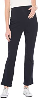 Beachcoco 女式孕妇孕妇裤 - 肚皮褶皱弹力休闲舒适休闲裤