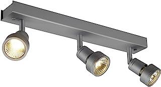 SLV LED 射灯 PURI 可旋转和可旋转,智能墙壁和天花板灯,用于个性化室内照明   天花板聚光灯,天花板灯,吸顶灯,天花板灯,天花板灯,天花板灯,墙壁灯   GU10,EEK 至 A++ [能效等级 A+]