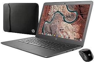 2019 HP Chromebook Premium 笔记本电脑 14 英寸全高清英特尔赛扬 N3350 处理器 4GB LPDDR4 内存 32GB eMMC 附赠套筒无线鼠标蓝牙 4.2 Chrome OS-灰色