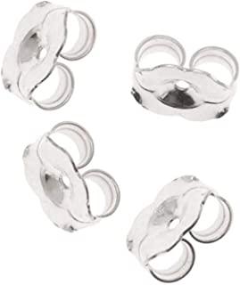 Beadaholique 12-Piece Sterling Earring Backs, 6mm, Silver
