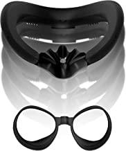 VR 面部界面泡沫支架套装适用于 Oculus Quest 2 带防汗透气泡沫面垫、硅胶阻光器和防渗漏鼻垫 - VR