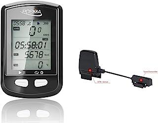POSMA 蓝牙 ANT+ 双模式 DB2 GPS 自行车计算机 BCB30 速度节奏传感器价值套件 - 速度计里程表,与智能手机 iPhone 连接