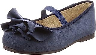 [menui] 褶边设计 橡胶绑带 圆头 儿童 芭蕾舞鞋 18021kids