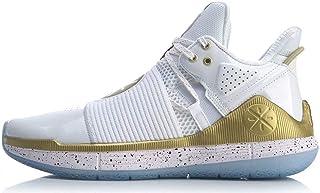 LI-NING Essence R 男士网眼休闲透气运动鞋Wade Fextile 高帮轻便运动鞋 AGWN023