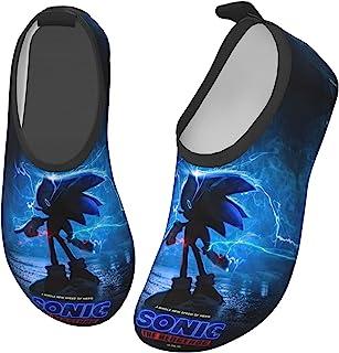 NEVKOO 儿童涉水鞋 Sonic 女孩 男孩 幼儿 防滑 速度 干扰 涉水鞋 海滩游泳 步行