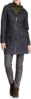 VERTIGO PARIS 女式羊毛混纺外套长袖拉链外套夹克