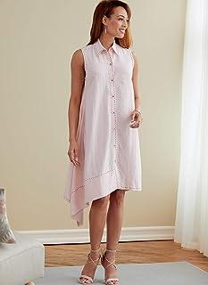 Butterick B6771A5 女士上衣 & 连衣裙,白色,A5(6-8-10-12-14)