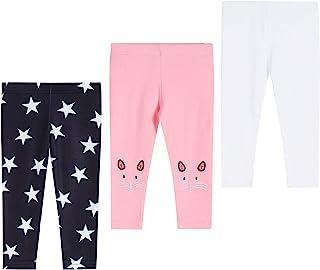 THEE BRON 幼儿/女童七分裤基本款打底裤 星星/猫/白色 2T