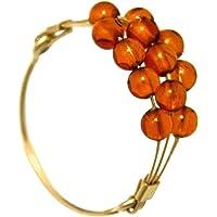 Gemshine - 女士 - 戒指 - 镀金 - 琥珀 - 橙色