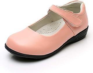 Akk 女孩玛丽珍校服鞋带礼服制服平底鞋黑色(幼儿/小女孩/大女孩)
