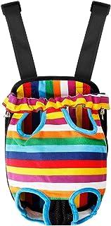LivingABC 狗狗背包背带,免提狗背带,前包腿,便携式方便轻质户外旅行宠物背袋,适合小型犬 多色 XL