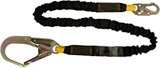 Fusion Climb 182.88 厘米 x 5.08 厘米内部减震保护秋季*挂绳带 HS 钢扣式渔管钩 23kN 黑色