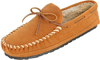 Minnetonka 女士硬鞋底皮衬里拖鞋