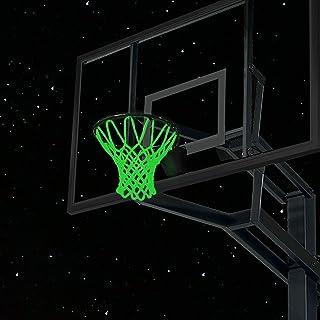 Glow in The Dark 篮球网夜光户外太阳动力篮球网尼龙运动室内篮球网替换专业标准尺寸球网