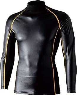 OTAFU BODY TOUGH NESS 防风能量弹力 高领衬衫 黑色×黄色 JW-191 Mサイズ 多色 JW-191 1