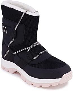 Nautica 女式雪地靴 - 防水人造毛皮隔热运动鞋靴 - Palo Verde