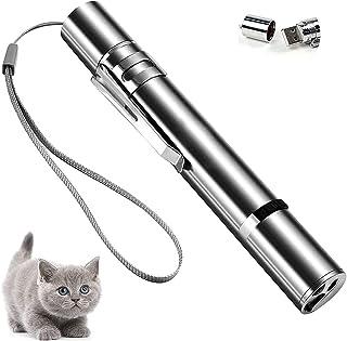 EEX 激光指针宠物猫玩具适用于小猫红色激光猫玩具室内和室外,带 USB 充电和多种图案