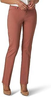 LEE 女式娇小秘密形状标准直筒裤